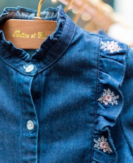 Camisa Vaquera Niña TARTINE ET CHOCOLAT Estampado Floral