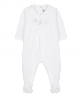 Pijama Bebé TARINE ET CHOCOLAT Animales Blanco