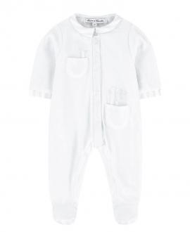 Pijama Bebé TARINE ET CHOCOLAT Terciopelo Blanco Conejito