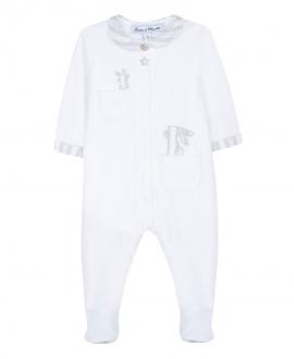 Pijama Bebé TARINE ET CHOCOLAT Terciopelo Gris Conejito