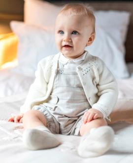 Cárdigan Bebé TARTINE ET CHOCOLAT Punto Calado Perla