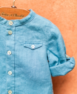Camisa Bebé Niño TARTINE ET CHOCOLAT Lino Azul