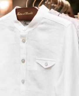 Camisa Niño TARTINE ET CHOCOLAT Lino Blanca