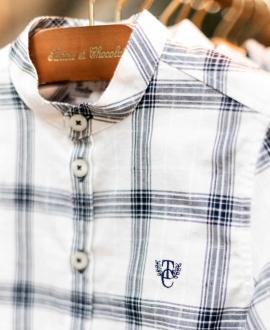 Camisa Niño TARTINE ET CHOCOLAT Blanca Cuadros
