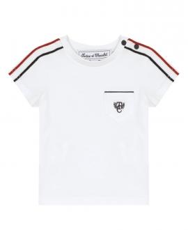 Camiseta Bebé Niño TARTINE ET CHOCOLAT Sport Blanca
