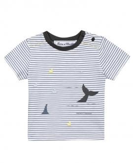 Camiseta Bebé Niño TARTINE ET CHOCOLAT Rayas Océano