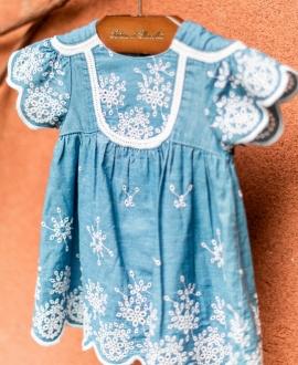 Vestido Bebé Niña TARTINE ET CHOCOLAT Cambray Bordado