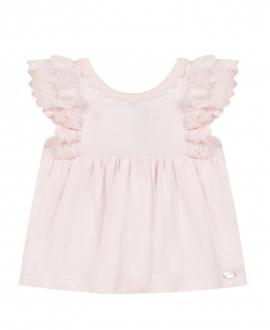 Camiseta Bebé Niña TARTINE ET CHOCOLAT Encaje Rosa Palo