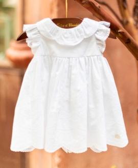Vestido Bebé Niña TARTINE ET CHOCOLAT Bordado Blanco