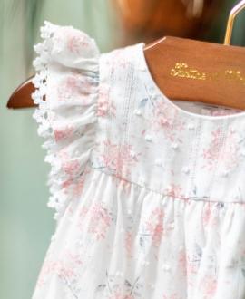 Vestido Bebé Niña TARTINE ET CHOCOLAT Estampado Hortensias