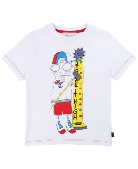 Camiseta Niño LITTLE MARC JACOB Mr Marc Blanca