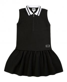 Vestido Niña KARL LAGERFELD Negro Cuello