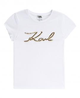 Camiseta Niña KARL LAGERFELD Karl oro