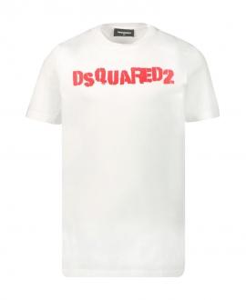 Camiseta Niño DSQUARED2 Blanca Logo