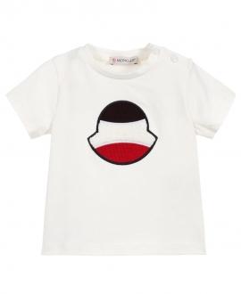 Camiseta Bebé Niño MONCLER Logo Bordado