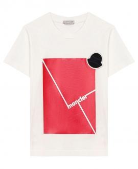 Camiseta Niño MONCLER Estampado Rojo