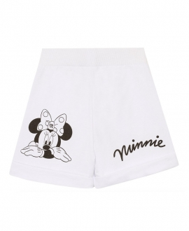 Short Niña MONNALISA Blanco Minnie