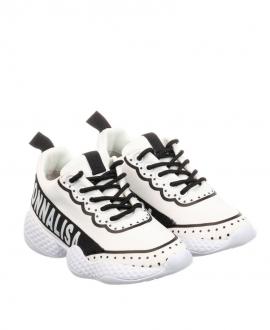 Sneaker Niña MONNALISA Blanco y Negro