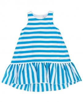 Vestido Niña MONNALISA Rayas Azul
