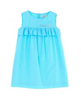 Vestido Niña MONNALISA Popelin Azul