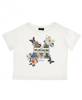 Camiseta MONNALISA Flores y Mariposas