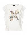 Camiseta MONNALISA Flores y Mariposas Volantes