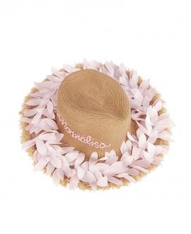 Sombrero Niña MONNALISA Pétalos Rosa