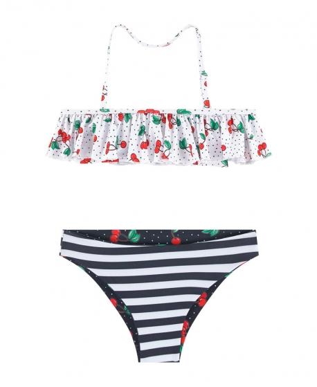 Bikini Niña MONNALISA Cerezas Reversible