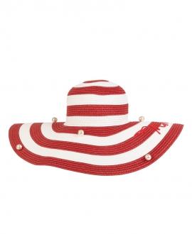 Sombrero Niña MONNALISA Rayas Rojas