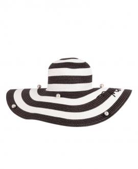Sombrero Niña MONNALISA Rayas Negras