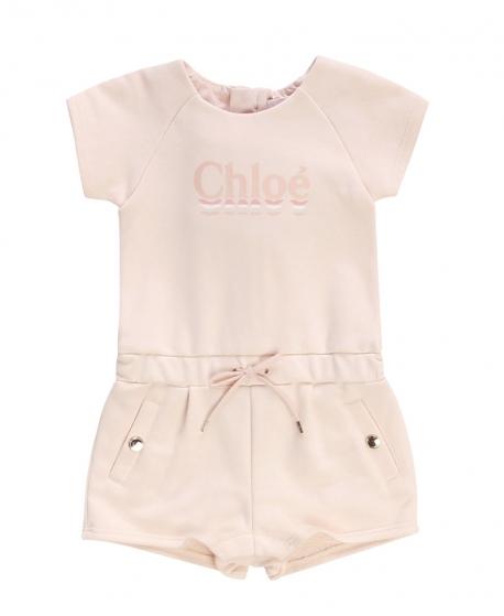 Mono Bebé Niña CHLOÉ Corto Rosa