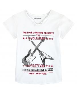 Camiseta ZADIG & VOLTAIRE Blanca Festival