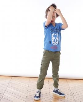 Camiseta Niño ZADIG & VOLTAIRE Azul Calavera