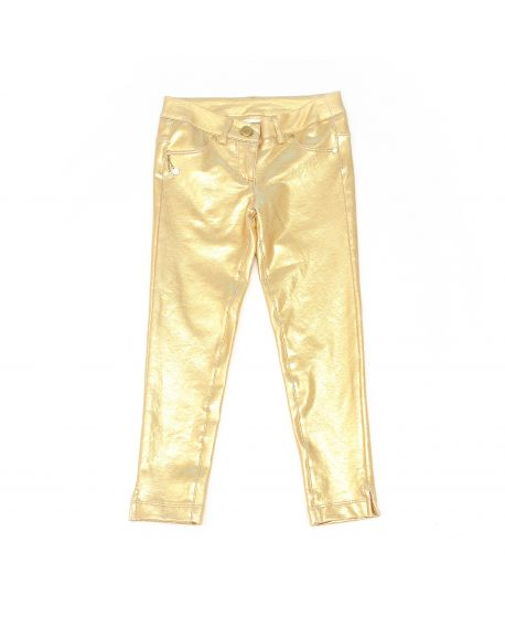 Pantalón Miss Grant Niña Dorado Brillante