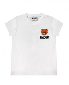 Camiseta Bebé MOSCHINO Blanca Parche Oso