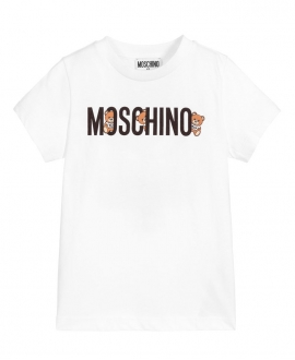 Camiseta MOSCHINO Blanca Logo Osos