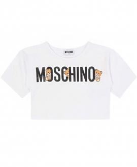 Camiseta Niña MOSCHINO Corta Blanca LOGO Oso