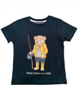 Camiseta Niño WEEKEND A LA MER Marino Oso