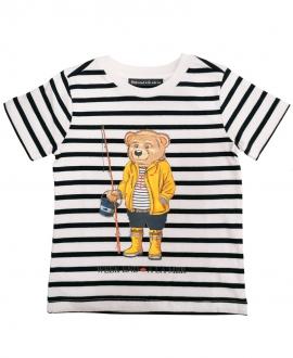Camiseta Niño WEEKEND A LA MER Rayas Oso