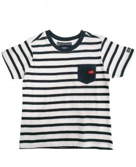 Camiseta Niño WEEKEND A LA MER Blanca Rayas