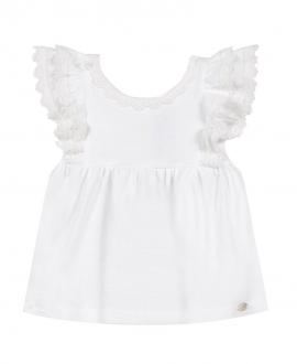 Camiseta Bebé Niña TARTINE ET CHOCOLAT Encaje Blanca