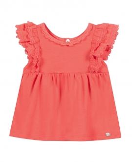 Camiseta Bebé Niña TARTINE ET CHOCOLAT Encaje Rosa