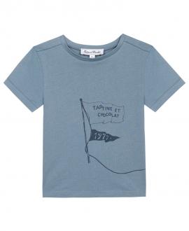 Camiseta Niño TARTINE ET CHOCOLAT Azul Bandera