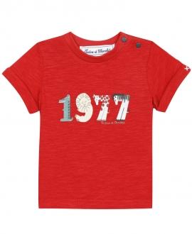 Camiseta Bebé Niño TARTINE ET CHOCOLAT 1977 Roja