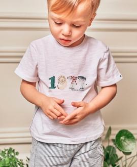 Camiseta Bebé Niño TARTINE ET CHOCOLAT 1977 Blanca