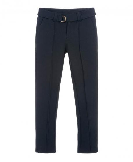 Pantalón Niña CHLOÉ Marino Cinturón