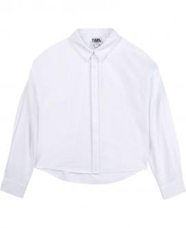 Camisa Niña KARL LAGERFELD Blanca Capas