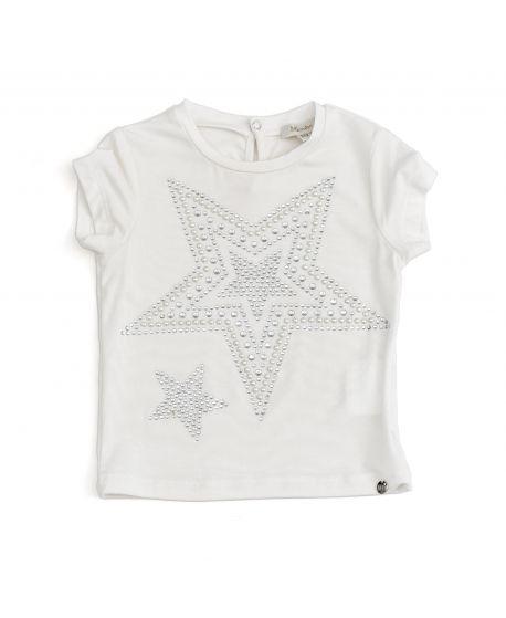Camiseta Microbe Niña Estrellas Plata
