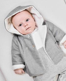 Abrigo Bebé TARTINE ET CHOCOLAT Franela Gris