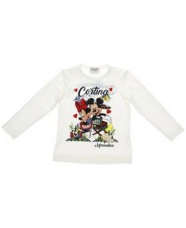 Camiseta Niña MONNALISA Mickey y Minnie